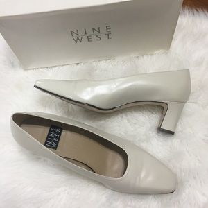 Nine West square toe heels